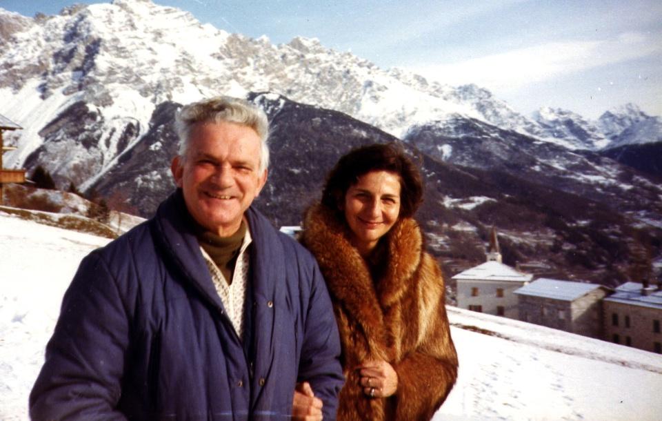 Mio papà e mia mamma a Oga nel 1985