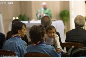 Papa Francesco a Santa Marta: non si può essere cristiani senza la grazia dello Spirito