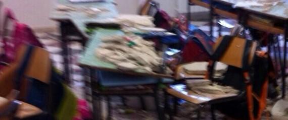 Crollo in scuola nel brindisino, bambini feriti